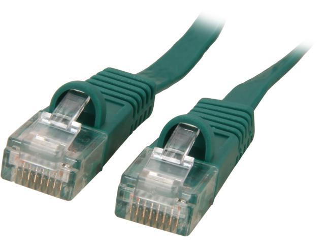 Coboc CY-CAT6-10-Green 10ft. 32AWG Cat 6 Green Color 550MHz UTP Flat Ethernet Stranded Copper Patch cord /Molded Network lan Cable