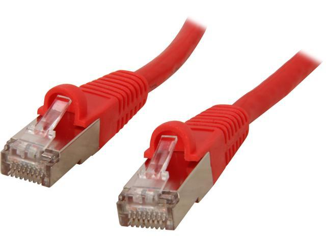 Coboc CY-CAT7-25- Red 25ft. 26AWG Snagless Cat 7 Red Color 600MHz SSTP(PIMF) Shielded Ethernet Stranded Copper Patch cord /Molded Network lan Cable