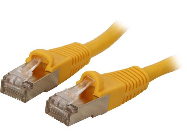 Coboc CY-CAT7-10- Yellow 10ft. 26AWG Snagless Cat 7 Yellow Color 600MHz SSTP(PIMF) Shielded Ethernet Stranded Copper Patch cord /Molded Network lan Cable