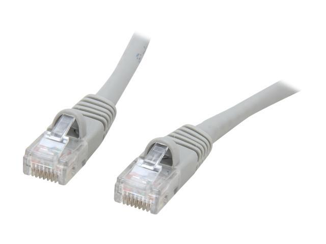 Coboc CY-CAT6-10-GR 10ft. 24AWG Snagless Cat 6 Gray Color 550MHz UTP Ethernet Stranded Copper Patch cord /Molded Network lan Cable