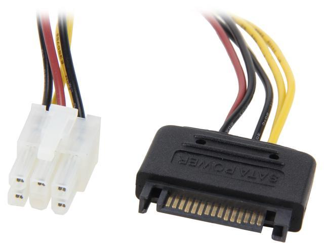 """Coboc SC-PWC-8-PCI 8""""SATA 15-pin Male to Graphics Video Card 6-pin PCI Express Card Power Cable"""