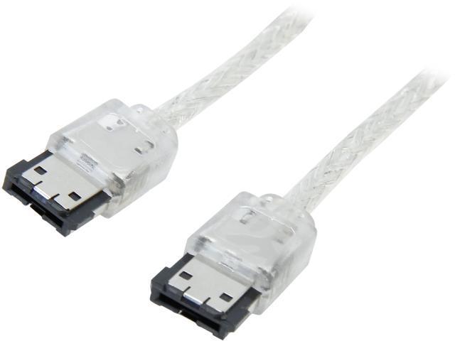 Coboc Model SC-SATA3-6FT-ERC-SL 6 ft. Shielded External SATA 6Gb/s eSATA to eSATA Data Cable for Hard Disk Drive/HDD/SSD Enclosure,Silver
