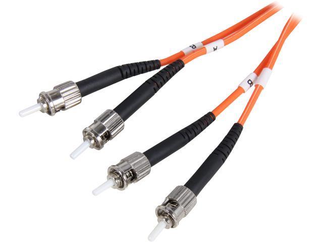 Coboc CY-OM1-ST/ST-10 32.81 ft. Orange Multimode 62.5/125 Duplex LSZH Fiber Patch Cable ST - ST,M-M