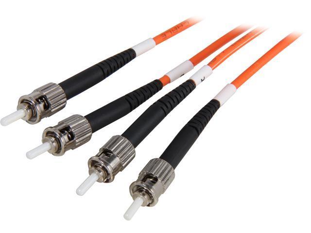 Coboc CY-OM1-ST/ST-2 6.56 ft. Orange Multimode 62.5/125 Duplex LSZH Fiber Patch Cable ST - ST,M-M