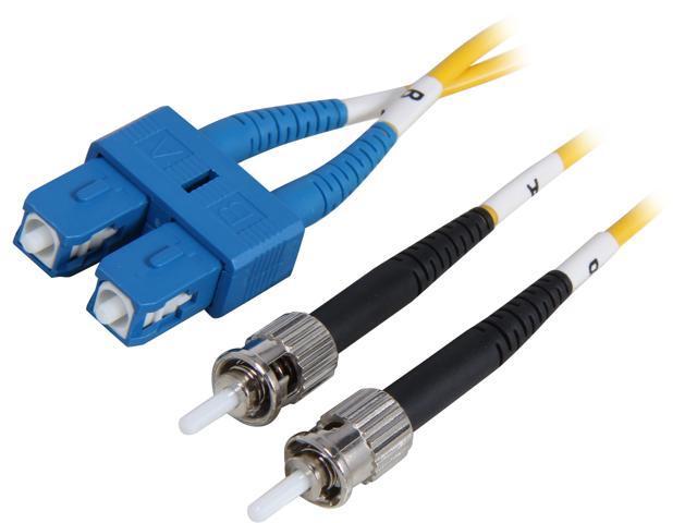 Coboc CY-OS1-SC/ST-1 3.28 ft. Yellow Singlemode 9/125 Duplex LSZH Fiber Patch Cable SC - ST,M-M