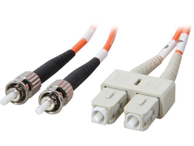 Coboc CY-OM1-ST/SC-2 6.56 ft. Orange Multimode 62.5/125 Duplex LSZH Fiber Patch Cable ST - SC,M-M