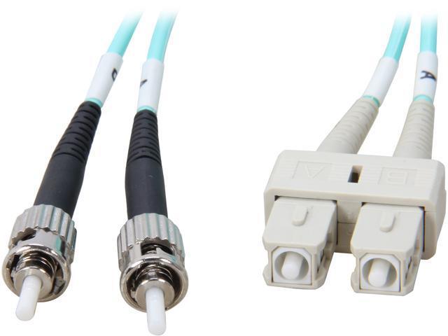 Coboc CY-OM3-ST/SC-3 9.84 ft. 10Gb Aqua Multimode 50/125 Duplex LSZH Fiber Patch Cable ST - SC,M-M