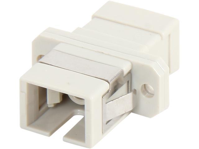 Coboc CY-FD-ML-S-SC/SC-P Multimode SC/SC Simplex Fiber Optic Adaptor, Plastic Body