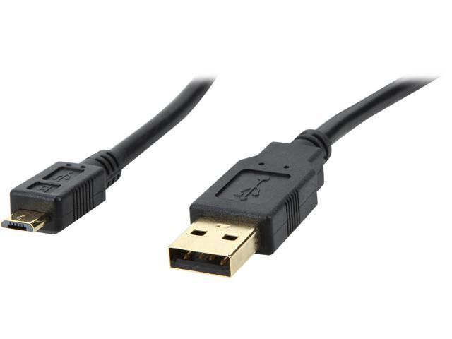 Coboc CL-U2-AMicBMM-1.5-BK 1.5ft High Speed USB 2.0 A Male to Micro B 5pin Male Cable w/ ferrite Core,Gold Plated,Black