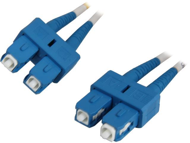 Coboc CY-OS1-SC/SC-15 49.21 ft. Yellow Singlemode 9/125 Duplex LSZH Fiber Patch Cable SC - SC,M-M