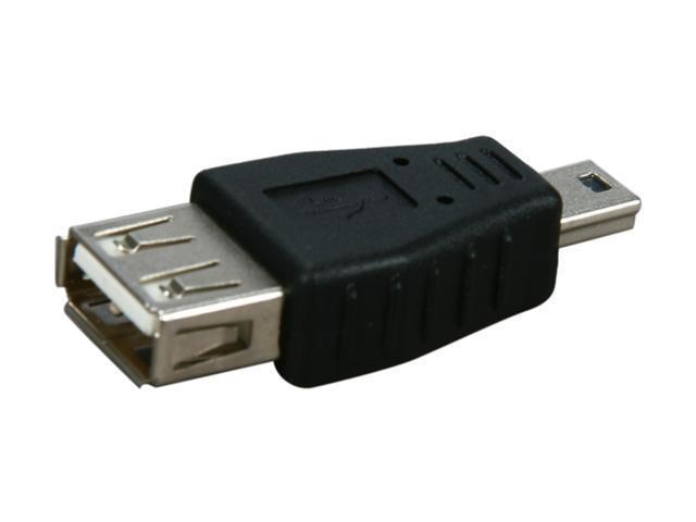 Kaybles AD-USB-AF-MINIBM USB A Female to Mini USB B (5pin) Male Adapter Black - OEM