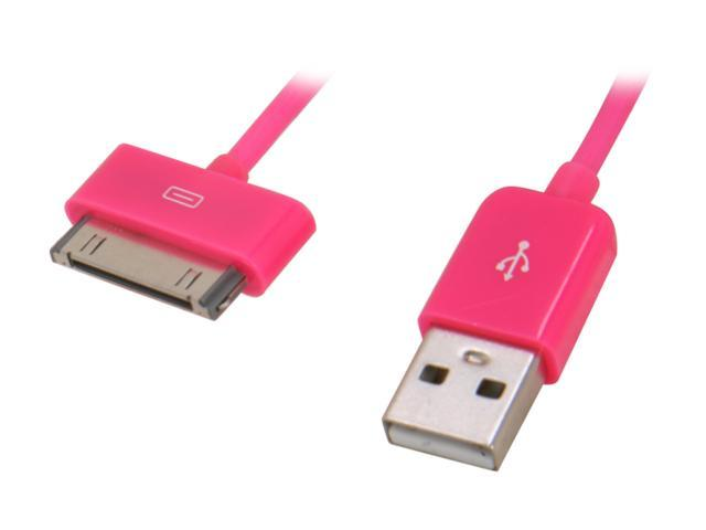 Candywirez CW-C806 4.5 ft. Pink USB Sync/Charge Cable for iPod/iPhone/iPad, Pink
