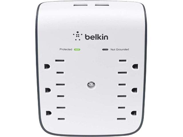 BELKIN BSV602 Wall Mount 900 joule USB Wall Mount (10 Watts, Combined)