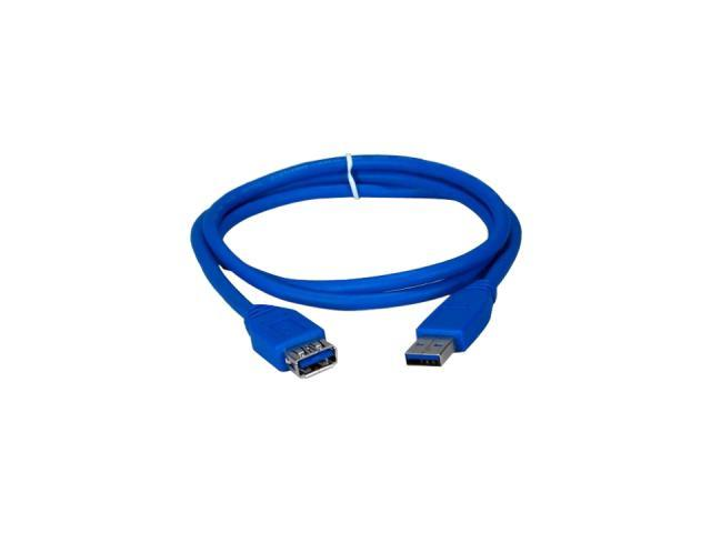 QVS 6ft, Blue, USB A Male to Female