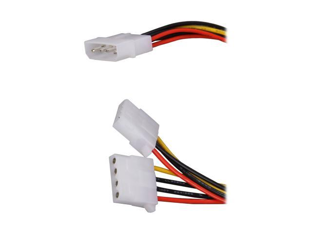 "Works CB-Y12 12"" Molex male to 2 x molex females"