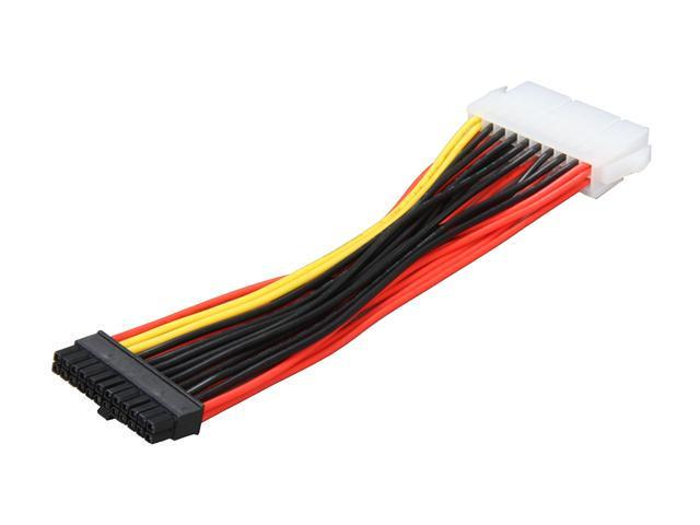 """1ST PC CORP. CB-20M-24FHP 4 1/8"""" 20-pin male to 24-pin Mini HP female motherboard connector cable M-F"""
