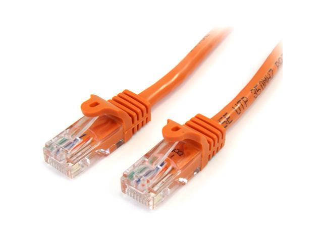 StarTech.com Snagless Cat5e UTP Patch cable - RJ-45 (M) - RJ-45 (M) - 0.9 m - UTP - ( CAT 5e ) - Orange
