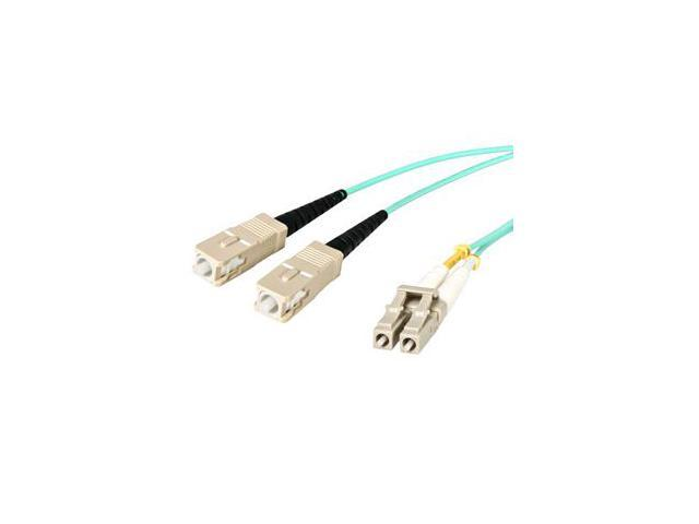 StarTech.com 10m 10 Gb Aqua Multimode 50/125 Duplex LSZH Fiber Patch Cable LC - SC