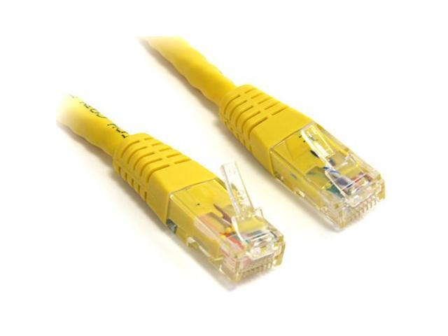 StarTech.com 50 ft Cat 6 Yellow Molded Gigabit Crossover RJ45 UTP Cat6 Patch Cable