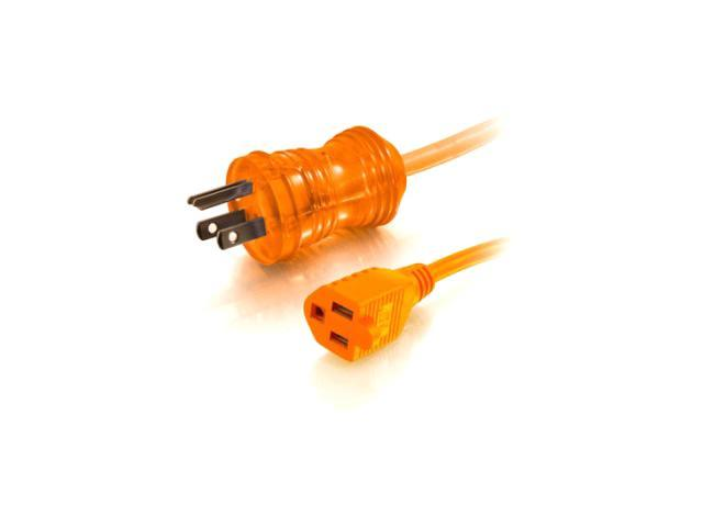 C2G / Cables To Go 48061 50 ft. 16 AWG HSPTL PWR CBL, 5-15P-5-15R OR