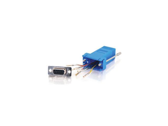 C2G RJ45/DB9F Modular Adapter