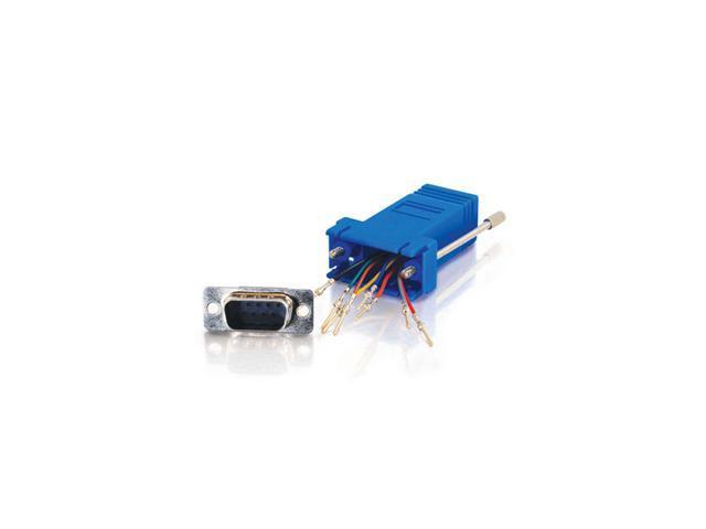 C2G RJ45/DB9M Modular Adapter