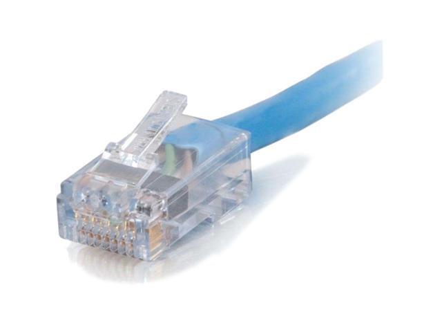 C2G 10ft Cat6 550MHz Assembled Plenum Patch Cable - Blue