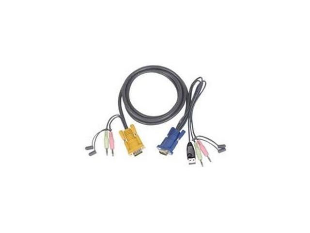 ATEN 6 ft. USB KVM Cable with Audio 2L5302U