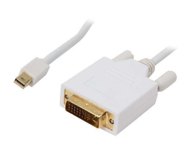 Nippon Labs Model MINIDP-DVI-6 6 ft. Mini DisplayPort to DVI 6ft 32 AWG Cable M-M 6 feet- OEM