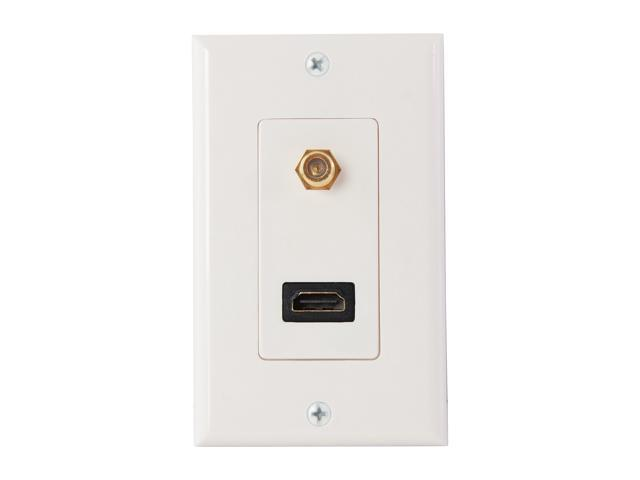 Nippon Labs WP-HM2-F HDMI Wall Plate with Coaxial F Connector