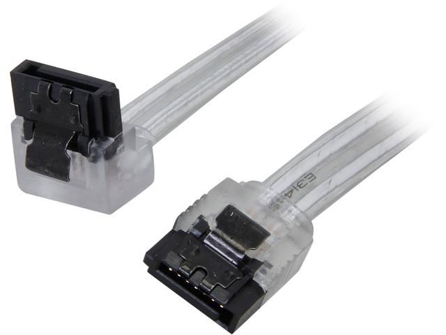 Nippon Labs SATA3L0.8FT-90/180SL 0.8 ft. SATA III Cable w/ Locking Latch (90 degree to 180 degree) 0.8 feet- OEM