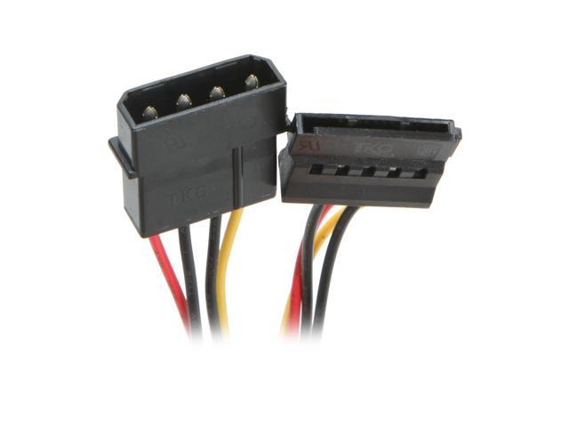 "Logisys AD203 6"" 4Pin Molex to SATA Power Adaptor"