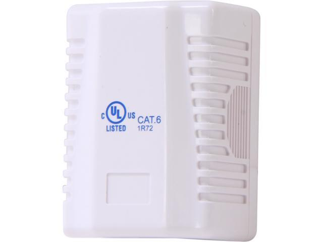 Nippon Labs SMB-C61-WH Cat. 6 Surface Mount Box with 110 Type Jacks,1 Port , White color