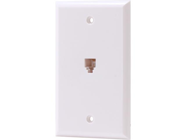 Nippon Labs WP-166-WH Wall Plate with Modular Jack, 6P / 6C, 1 Port Color White
