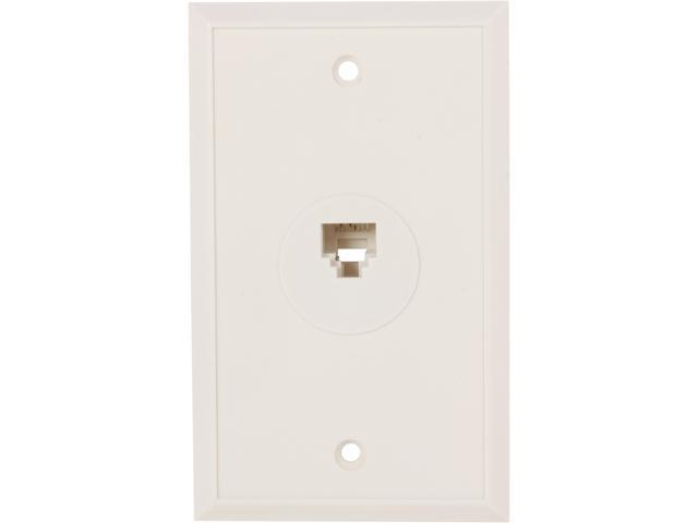 Nippon Labs WP-188-WH Wall Plats with Modular Jack, 8P / 8C, 1 Port Color White