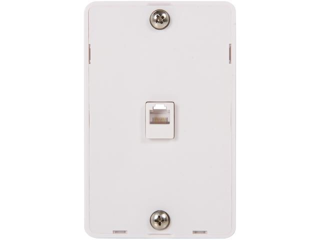 Nippon Labs WP-5166-WH Wall Plate with jack, RJ-12 1 Port, White Color
