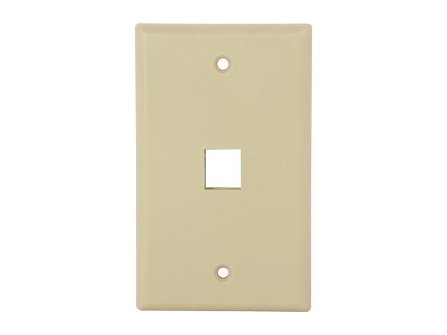Nippon Labs WP-1IV Wall Plate for Keystone Insert, 1 Hole, Color Ivory