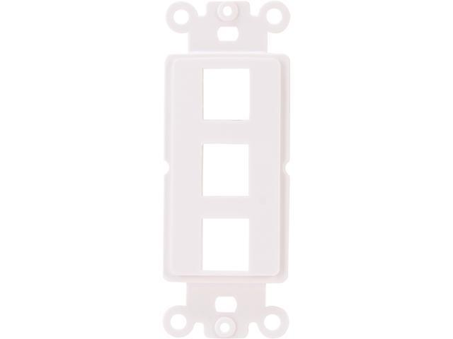 Nippon Labs WP-D3WH Decorator Wall Plate, 3 Hole, White Color
