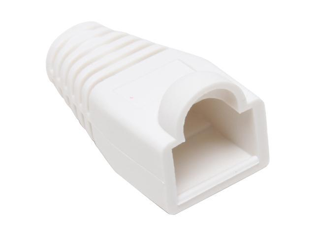 BYTECC C6BOOT-W White Color Snagless Boots for RJ45, 50-Pack