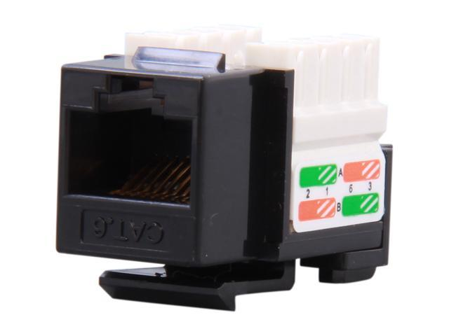 BYTECC RJ45PD-K Cat. 6 Punch Down Keystone Jack - Black