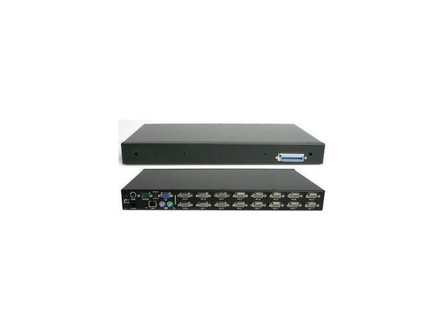 StarTech.com 1U Rackmount Power Switch 8 Outlet 15 Amp RS232 Serial Control PDU - Black (PCM815SHNA)