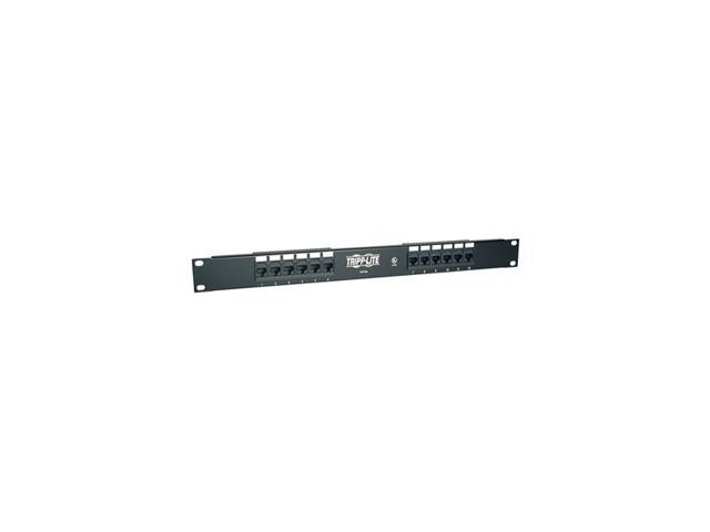 TRIPP LITE N052-012 12-Port Cat5e Patch Panel 568B