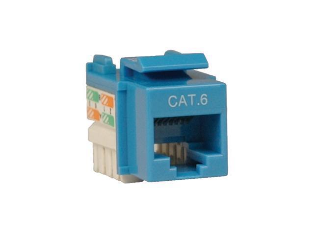 TRIPP LITE N238-001-BL Cat6/Cat5e 110 Style Punch Down Keystone Jack - Blue