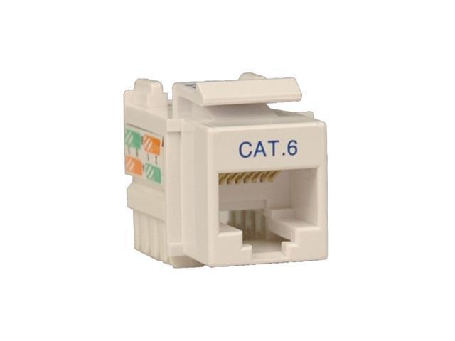 TRIPP LITE N238-001-WH Cat6/Cat5e 110 Style Punch Down Keystone Jack - White