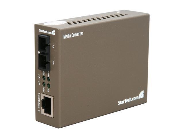 StarTech 1000 Mbps Gigabit Single-Mode Fiber Ethernet Media Converter SC - Convert and extend a Gigabit Ethernet connection ...