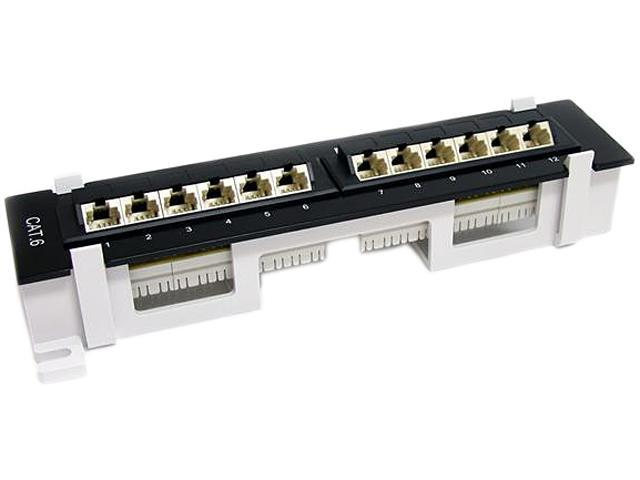 StarTech C6PANL4512 12 Port CAT6 Patch Panel At And T 110 Angled