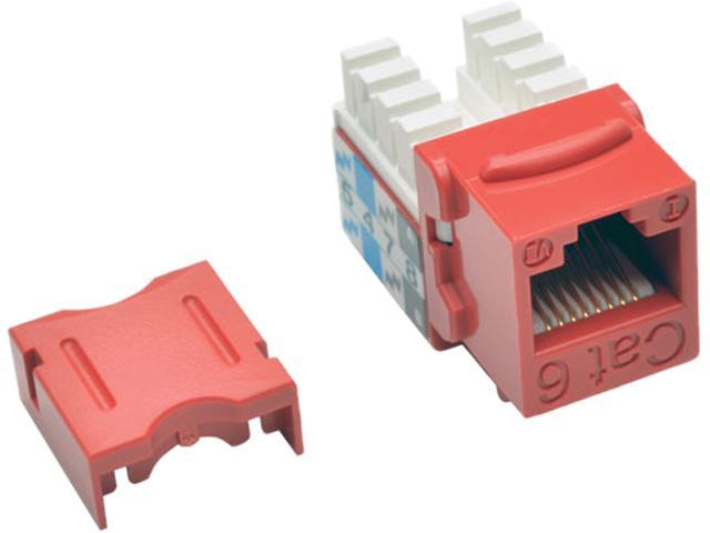 Tripp Lite Cat6/Cat5e 110 Style Punch Down Keystone Jack - Red, 25-Pack