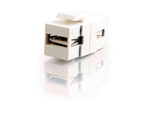 C2G 28748 Snap-In USB A/A Female Keystone Insert Module - White