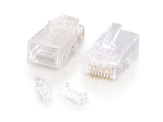C2G 27573 RJ45 Cat. 5E Modular Plug for Round Solid/Stranded Cable