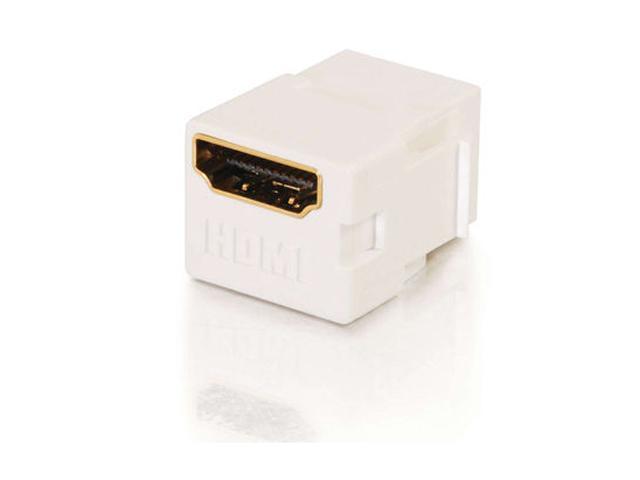 C2G 03345 Snap-In HDMI F/F Keystone Insert Module - White